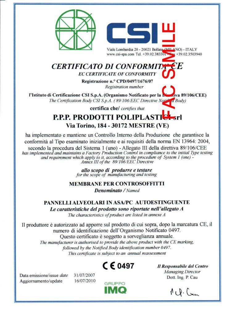Certifications Csi Iso Dnv Ppp Prodotti Poliplastici